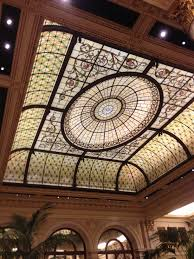 stained glass ceiling at the palm court plaza hotel nyc