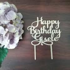 happy birthday cake topper happy birthday name cake topper bridal bling australia