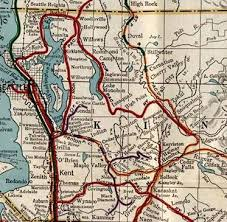 seattle map by county vintage washington map shows today s rails to trail network