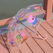 peppa pig cartoon children umbrella primary students