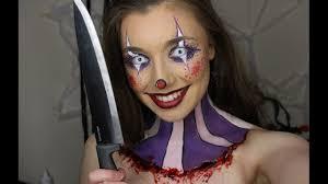 halloween creepy makeup creepy cute clown makeup tutorial 31 days of halloween youtube