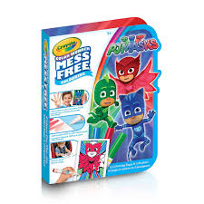 color wonder on the go book pj masks crayola toys