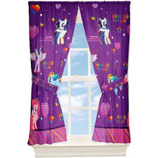 Pink And Purple Curtains My Little Pony Window Drapes Curtains Panels Purple And Pink