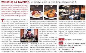 les articles de cuisine articles magazine gault et millau picture of winstub la taverne