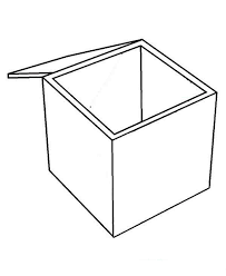 Empty Box Coloring Page Coloring Sun Box Coloring Pages