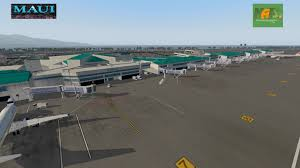 Kahului Airport Map Phog Kahului International Airport Scenery Packages V11 V 10