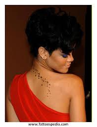 rihanna tattoos chest font 2
