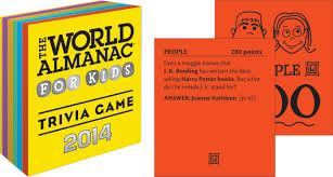 the world almanac for kids 2014 trivia game janssen sarah