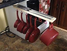 kitchen pan storage ideas the counter pull out pots and pans rack hometalk