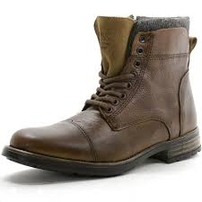 gbx mens tosh ankle high boots lace up combat style casual comfort