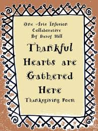 thankful hearts are gathered here a thanksgiving poem
