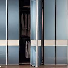 Glass Bifold Closet Doors Bi Fold Doors Interior Closet The Home Depot Intended For