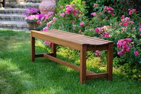 douglas nance teak bench picture with astounding backless park