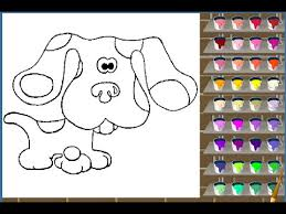 blues clues painting games blues clues coloring pages
