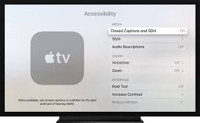 Britbox On Tv Turn On Closed Captions And Subtitles On Your Apple Tv Apple Support