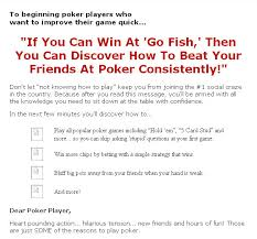 how to play the fish table how to play poker plr ebook