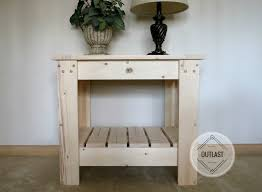 Wood Side Table Solid Wood Side Table With Slat Bottom Shelf Outlast Furniture