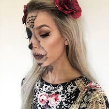 halloween face stickers halloween series sugar skull half face u2013 francesca faggi
