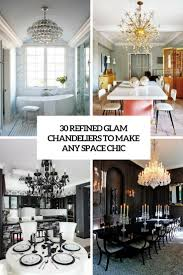Glam Powder Room Chandeliers Archives Digsdigs
