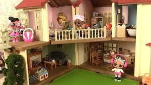 sylvanian families cuisine poupées lol maison de poupées cuisine sylvanian families townhome