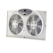 electrically reversible twin window fan lasko 8 in electrically reversible twin window fan with thermostat