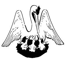louisiana state flag stencil sp stencils