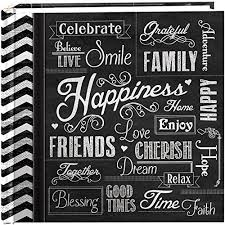 pioneer pioneerphotoalbums photo albums 200 pocket chalkboard printed happiness theme photo