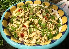 roasted veggie pasta salad with pistachio pesto french gardener