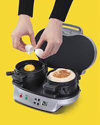 Buy Hamilton Beach A Dual Breakfast Sandwich Maker by Hamilton