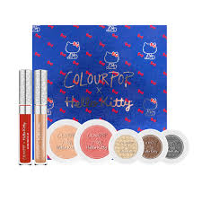 colourpop x hello kitty collaboration see all the makeup in the