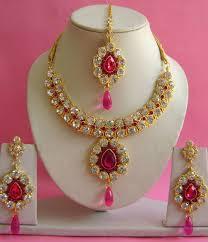 necklace set magenta necklace set