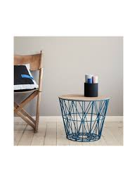 wire and wood basket side table sim sleek wire basket blue client stories night market