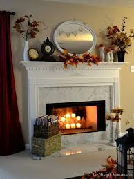 Decorating With Fall Leaves - there are dozens of great fall ideas for fireplace decorating with