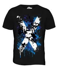 Scotland Flags Scotland Flag Abstract Print Mens T Shirt Top Scottish St Andrews