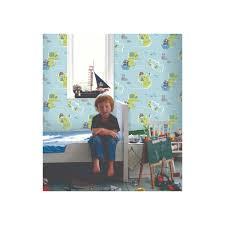 decorline carousel pirates childrens wallpaper blue green