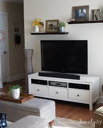 hemnes tv bench divinely diy ikea hemnes tv unit that needed some lovin