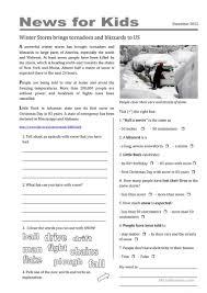 35 free esl newspaper english worksheets