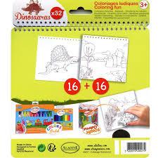 Carnet de coloriage Dinosaurus  17 x 18 cm  32 pages  Cahier de