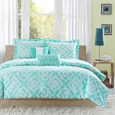 Teen Queen Bedding Amazon Com Turquoise Blue Aqua Girls Full Queen Comforter Set