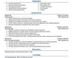 Seek Resume Builder Resume Esthetician Beautiful Top Rated Resume Writing Services