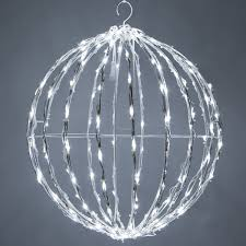 Outdoor Lighted Balls by Light Balls Yard Envy