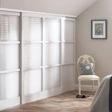 glamorous white wood sliding closet doors 34 for modern decoration