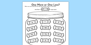 one more one less sweet counting activity sheet count