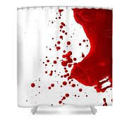Blood Shower Curtain Blood Splatter Painting By Holly Anderson