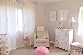 Nursery Curtain Fabric by Baby Nursery Pink Nursery Design Ideas With Beige Rattan Blanket