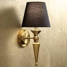 Brass Wall Sconce Textured Fabric Shade 17 1 4