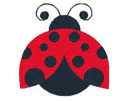 mini ladybug machine embroidery design fill stitch ladybird