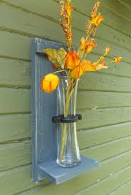 Vase Wall Sconce Wall Vase Sconce Rustic Wall Sconce Wood Wall Sconce Flower