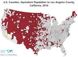 La County Map Us Counties Equivalent Population To Los Angeles County Vivid Maps