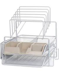 wire mesh desk organizer new savings on org all in one wire mesh desk organizer in silver